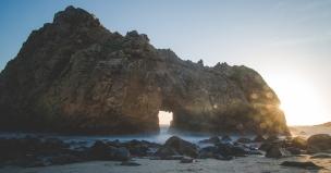Keyhole Arch at Pfeiffer Beach